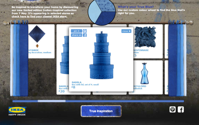 'True Blue' collection - IKEA microsite