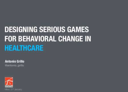 ScreDesigning Serious Games for Behavioural Change in Healthcare